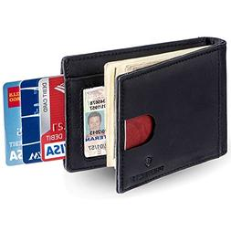 Protectif RFID Blocking Genuinle Leather Mens Wallet - Multi