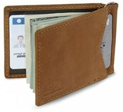 Serman Brands - Rfid Blocking Leather Money Clip Slim Wallet
