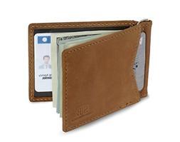SERMAN BRANDS - RFID Blocking Leather Money Clip Slim Wallet