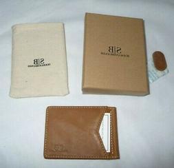 SERMAN BRANDS RFID Blocking Leather Money Clip Slim Wallet M
