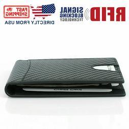 rfid blocking men s carbon fiber leather