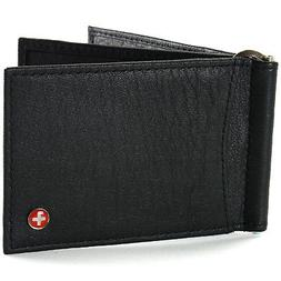 Alpine Swiss RFID Blocking Mens Money Clip Deluxe Spring Loa