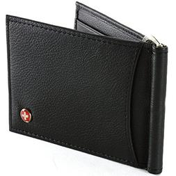 Alpine Swiss RFID Blocking Men's Wallet Leather Front Pocket