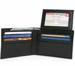 Alpine Swiss RFID Blocking Mens Leather Bifold Wallet Remova