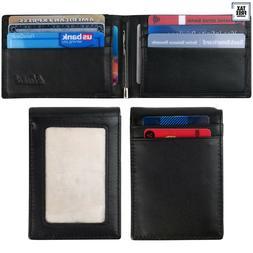 Kinzd RFID BLOCKING Mens Slim Bifold Front Pocket Leather Wa