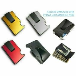 RFID Blocking Metal Wallet The Minimalist Wallets Credit car