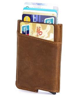 Dinghao RFID Blocking Slim Money Clip Aluminum Wallet Automa