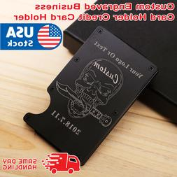 RFID Blocking Slim Money Clip Wallet Credit Card ID Holder f