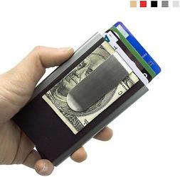 MOSIYEEF RFID Blocking Slim Wallet Aluminum Front Pocket Wal