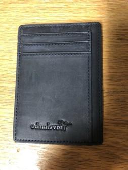 Travelambo RFID Front Pocket Minimalist Slim Wallet Genuine