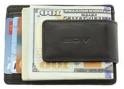 Viosi RFID Men's Leather Magnetic Front Pocket Money Clip Wa
