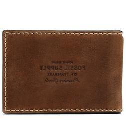 Fossil Russell RFID Money Clip Bifold Cognac Wallet ML412222