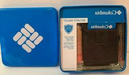 Columbia Security Wallet Built In RFID Shield Brown Leather