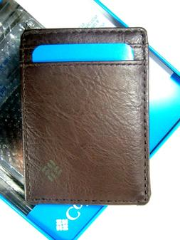 Columbia Security Wallet Magnetic Money Clip Case RFID Block