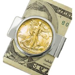 American Coin Treasures Silvertone Coin Money Clip with Silv