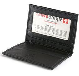 SLIM Black Genuine Leather RFID Bifold Wallet Credit Card Ho