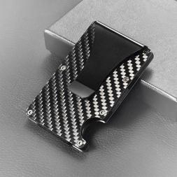 slim carbon fiber credit card holder rfid
