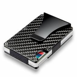 Slim Credit Card Holder RFID Blocking Metal Wallet Purse Car