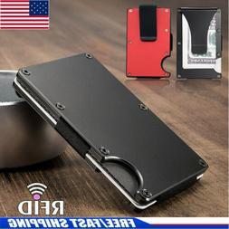 Slim Money Clip & RFID Blocking Aluminum Wallet Front Packet