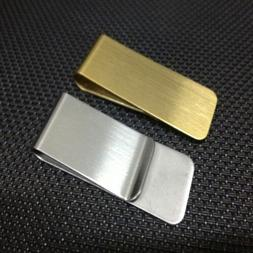 Slim Pocket Stainless Steel Metal Clip Men Purse Cash Clamp