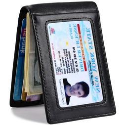 Slim Wallet Minimalist luxury with Money Clip Bi fold for Me