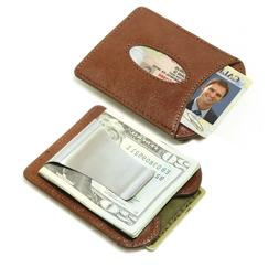 Storus Smart Money Clip Leather, 2 in 1 Leather Wallet + Met