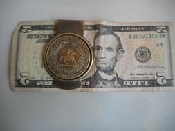 Solid Brass CSA Seal Confederate States of America Money cli