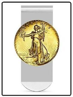 ST GAUDENS MONEY CLIP - 20 dollar full size replica medallio