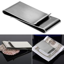 Stainless Steel Double Sided Money Clip Men's Wallet Credit