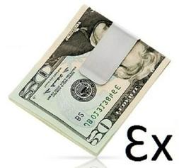 New Stainless Steel Money Cash Clip Clamp Holder For Pocket
