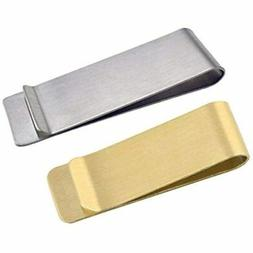 Stainless Steel Money Clip, Classic Cash Holder Credit Card
