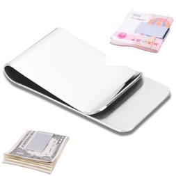 New Stainless Steel Silver Slim Money Clip Purse Wallet Cred