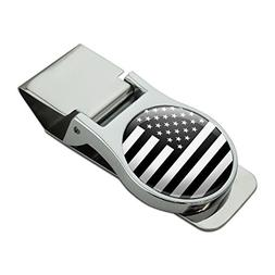 subdued american usa flag black white military