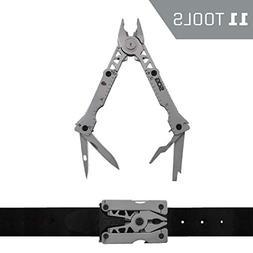 SOG Sync I Bead Blasted 11 Tool Belt Buckle Multi-Tool SOGSN