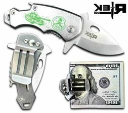RTek USA Tactical Money Clip Bottle Opener Folding Spring As