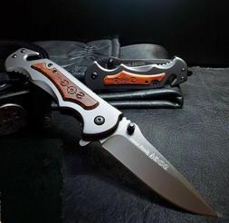 SOG Tactical Rescue Pocket Knife Spring Assisted Opening Lar
