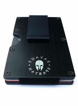 Savage Spartan Tactical Wallet Aluminum Metal Credit Card Ho
