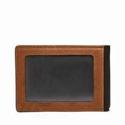 Fossil Tate Men's RFID Money Clip Bifold Genuine Leather W