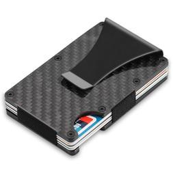 The Card Wallet Carbon Fiber Money Clip Minimalist Front Poc