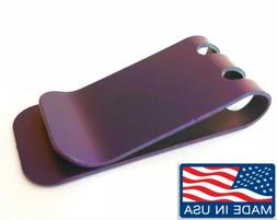 TITANIUM money clip Anodized Purple Anniversary Gift  Moneyc