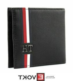 TOMMY HILFIGER TH Corporate CC Wallet Money Clip Black Blue