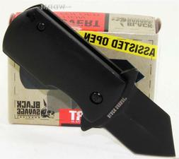United Black Savage Mini Covert Spring Assisted Money Clip/B