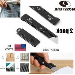 MOSSY OAK 2-Piece Folding Utility Knife Quick Change Standar