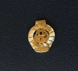 VINTAGE GOLD PLATED LIGHT WEIGHT DOLLAR SIGN MONEY CLIP