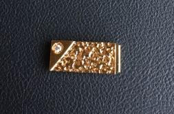VINTAGE OLD STOCK NEW GOLD NUGGET MONEY CLIP GOLD PLATED