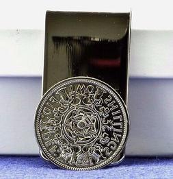 Vintage Queen Elizabeth II Florin Coin Money Clip