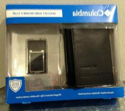 Columbia Wallet and Money Clip RFID Protected Multiple Pocke