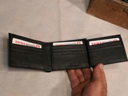 Alpine Swiss Wallet g 172-BLK Leather 12 slots plus ID good