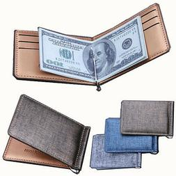 Wallet Slim Money Clip Luxury Business Leather Wallet Credit