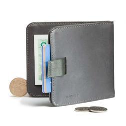 Distil Union - Wally Euro, Slim Leather Wallet with Coin Pou